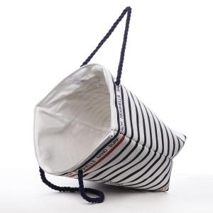 Plážová taška Karin - modro-bílá