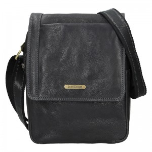 Pánská kožená taška přes rameno SendiDesign Fergus - černá