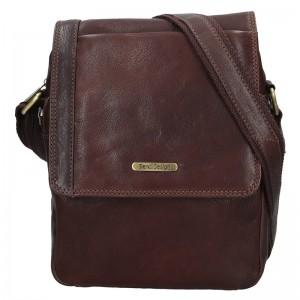 Pánská kožená taška přes rameno SendiDesign Fergus - hnědá
