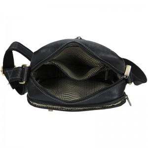 Panská kožená taška přes rameno SendiDesign Curzio- černá