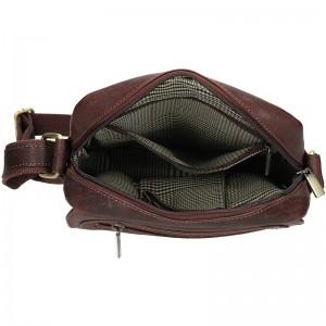 Pánská kožená taška přes rameno SendiDesign Druso - hnědá