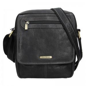 Pánská kožená taška přes rameno SendiDesign Druso - černá