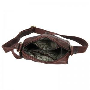 Pánská kožená taška přes rameno SendiDesign Egisto - hnědá