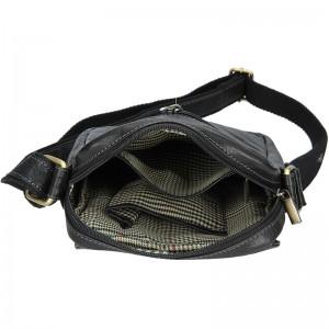 Pánská kožená taška přes rameno SendiDesign Egisto - černá