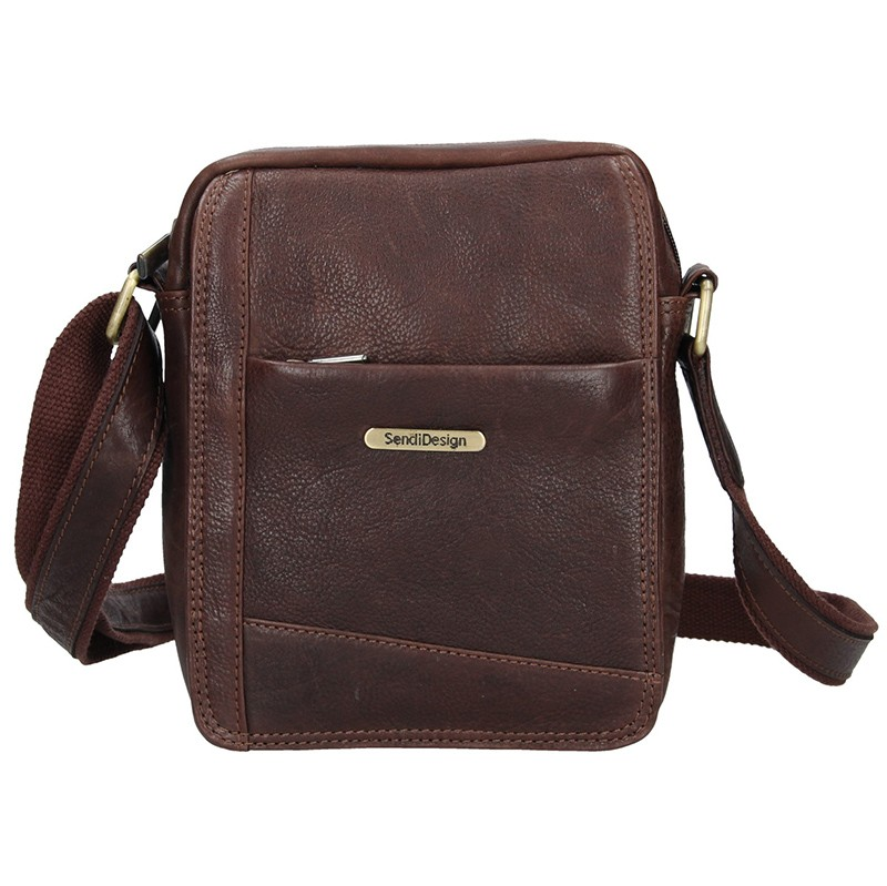 a2e2eedf2f Pánská kožená taška přes rameno SendiDesign Egisto - hnědá