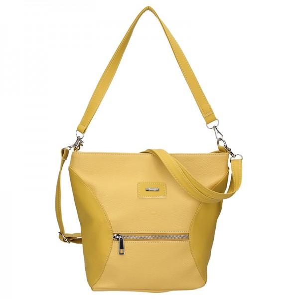 Dámská crossbody kabelka SendiDesign Laura - žlutá