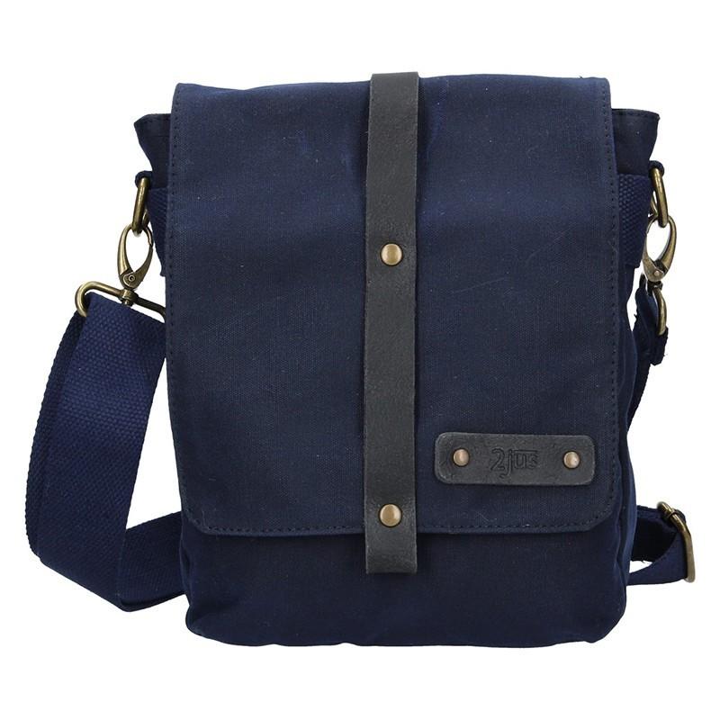 1e9f64645 Pánská taška přes rameno 2JUS Borg - modrá