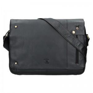 Pánská kožená taška Always Wild Niel - černá