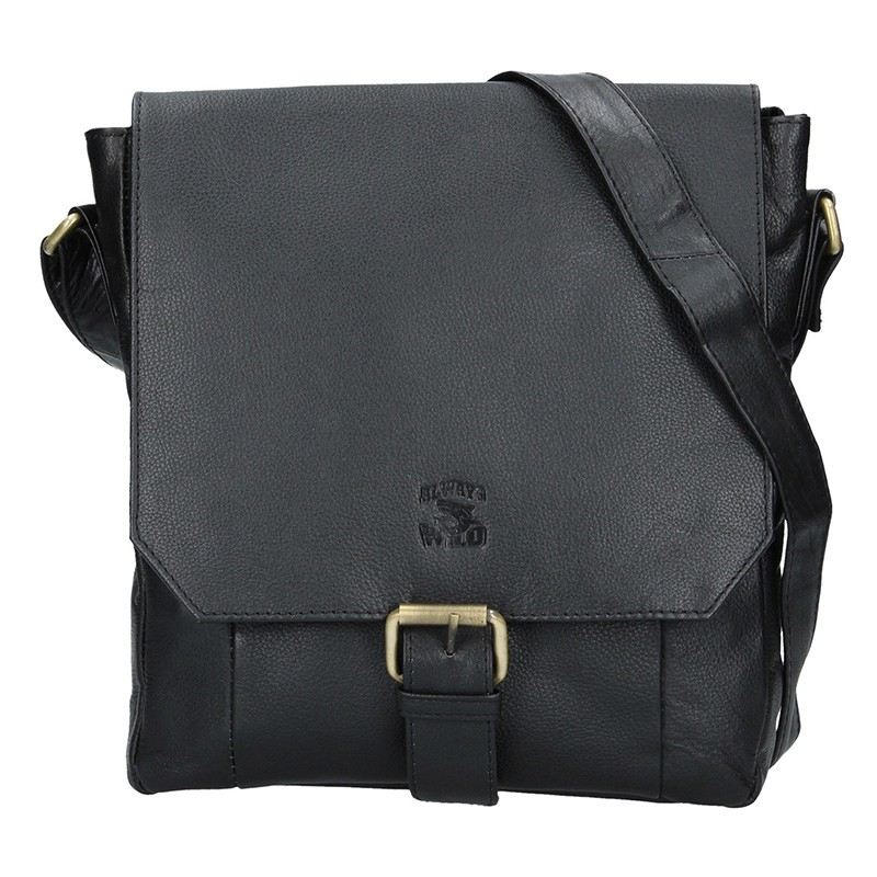 Pánská kožená taška Always Wild Wiliem - černá