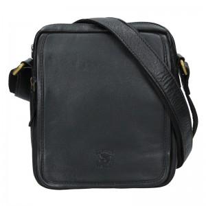 Pánská kožená taška Always Wild Jonas - černá