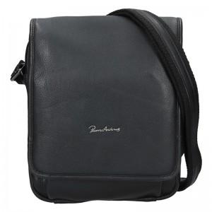 Pánská kožená taška Pierre Andreus Marro - černá