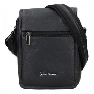 Pánská kožená taška Pierre Andreus Lenon - černá
