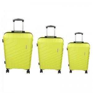 Sada 3 cestovních kufrů Marina Galanti Reno S, M, L - fosforová
