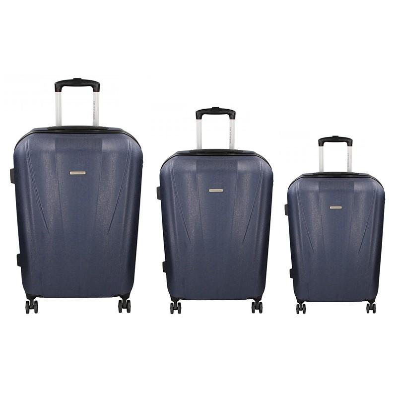 1f59f28e6b811 Sada 3 cestovních kufrů Marina Galanti Fuerta S, M, L - modrá