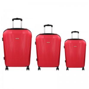 Sada 3 cestovních kufrů Marina Galanti Fuerta S, M, L - červená