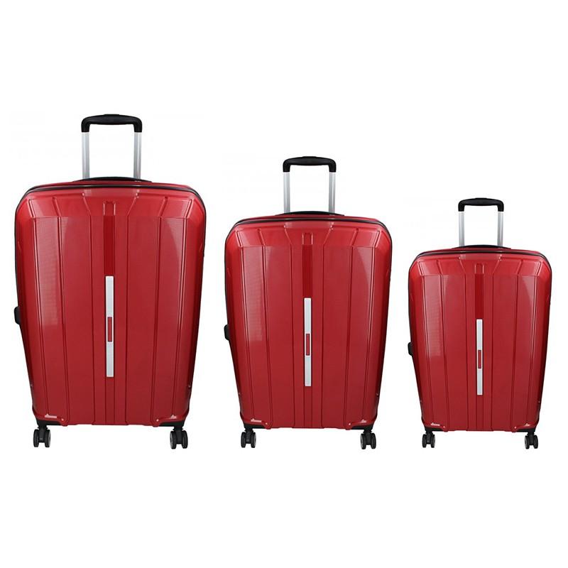 Sada 3 cestovních kufrů Snowball Barcelona S,M,L - vínová