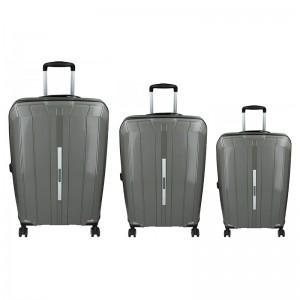 Sada 3 cestovních kufrů Snowball Barcelona S,M,L - šedá