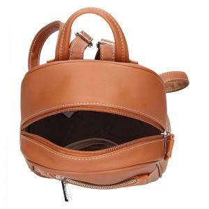 Módní dámský batoh David Jones Arvis - koňak