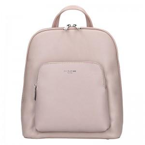 Módní dámský batoh David Jones Elvíras - růžová
