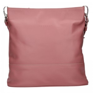Dámská kožená crossbody kabelka Facebag Karla - růžová