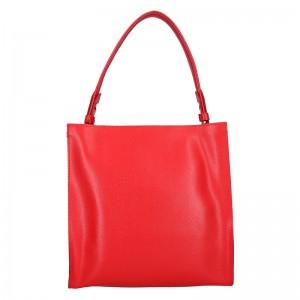 Dámská kožená kabelka Facebag Ange - červená
