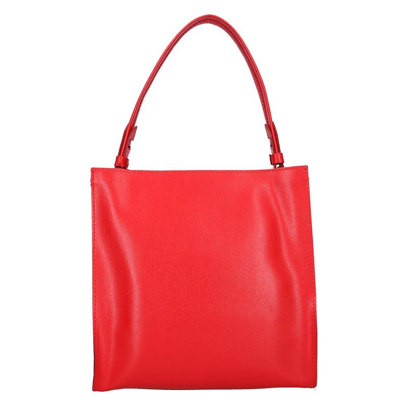 16848da1bf79e Dámská kožená kabelka Facebag Ange - červená