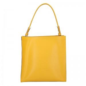 Dámská kožená kabelka Facebag Ange - žlutá