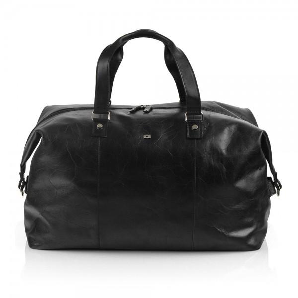 Pánská kožená cestovní taška Daag JAZZY PARTY 221 - černá