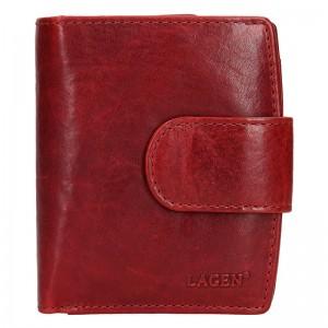 Dámská kožená peněženka Lagen Marcela - červená
