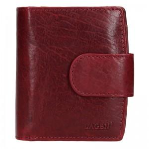 Dámská kožená peněženka Lagen Marcela - vínová