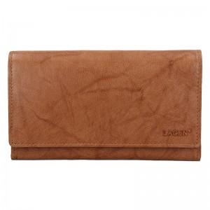 Dámská kožená peněženka Lagen Victoria - světle hnědá