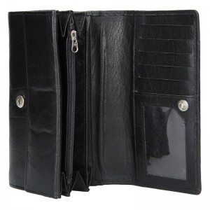 Dámská kožená peněženka Lagen Victoria - černá