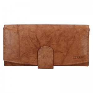 Dámská kožená peněženka Lagen Silvia - hnědá