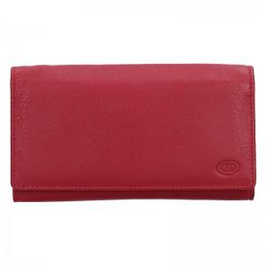 Dámská kožená peněženka DD Anekta Marketa - červená