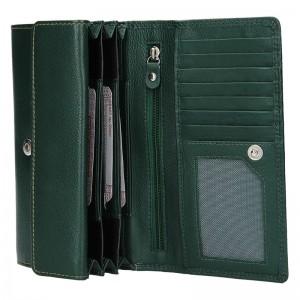 Dámská kožená peněženka DD Anekta Marketa - zelená