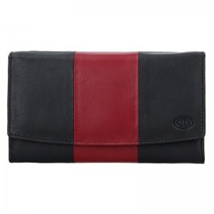 Dámská kožená peněženka DD Anekta Alena - černo-červená