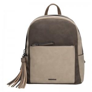Elegantní dámský batoh Emily & Noah Paloma - hnědá