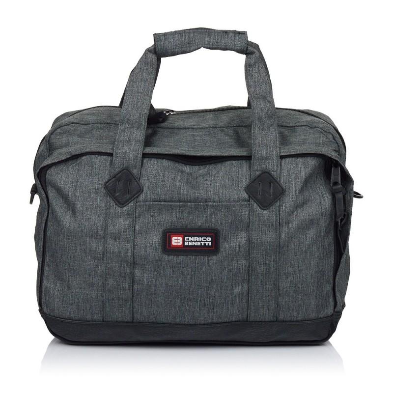 Pánská taška přes rameno Enrico Benetti Montevideo - tmavě šedá