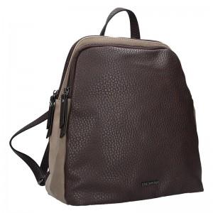 Elegantní dámský batoh Emily & Noah Karin - hnědá