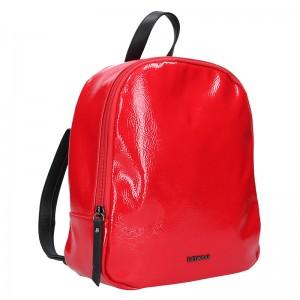 Elegantní dámský batoh Emily & Noah Tinna - červená