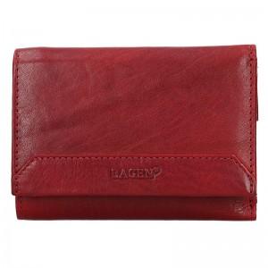 Dámská kožená peněženka Lagen Jarmila - červená