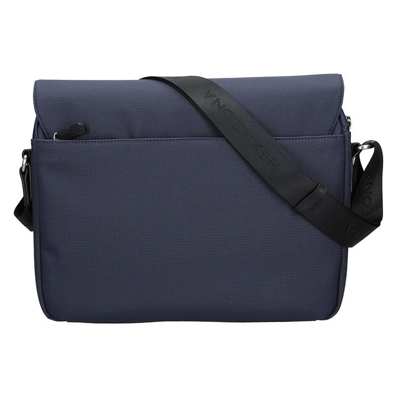 Pánská taška přes rameno Hexagona Reiss - černo-modrá