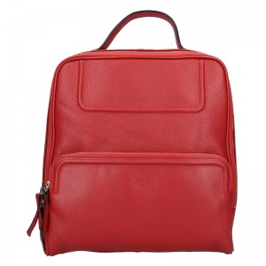 Dámský kožený batoh Katana Radka - červená