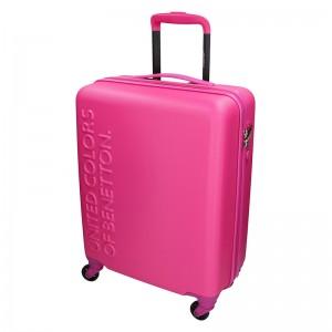 Kabinový cestovní kufr United Colors of Benetton Aura - růžová