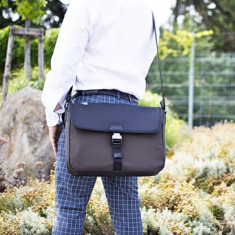 Pánská taška přes rameno Hexagona Quido - hnědo-černá