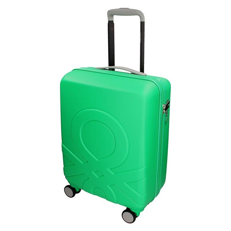 Kabinový cestovní kufr United Colors of Benetton Timis - zelená