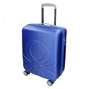 Kabinový cestovní kufr United Colors of Benetton Timis - modrá