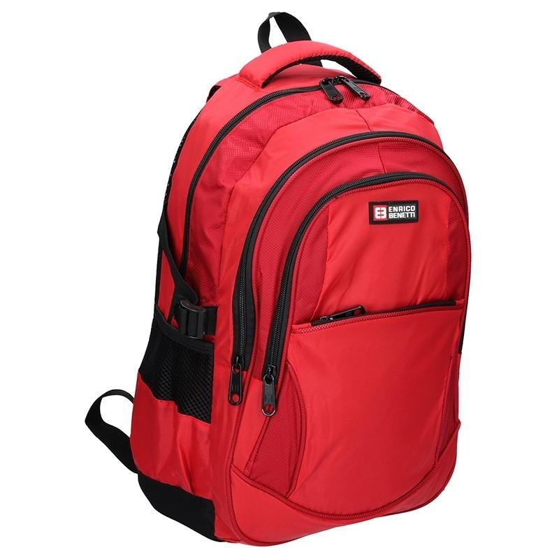 61009cbb150 Moderní batoh Enrico Benetti 46067 - červená
