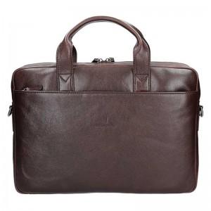 Pánská kožená taška přes rameno Hexagona 129478 - hnědá