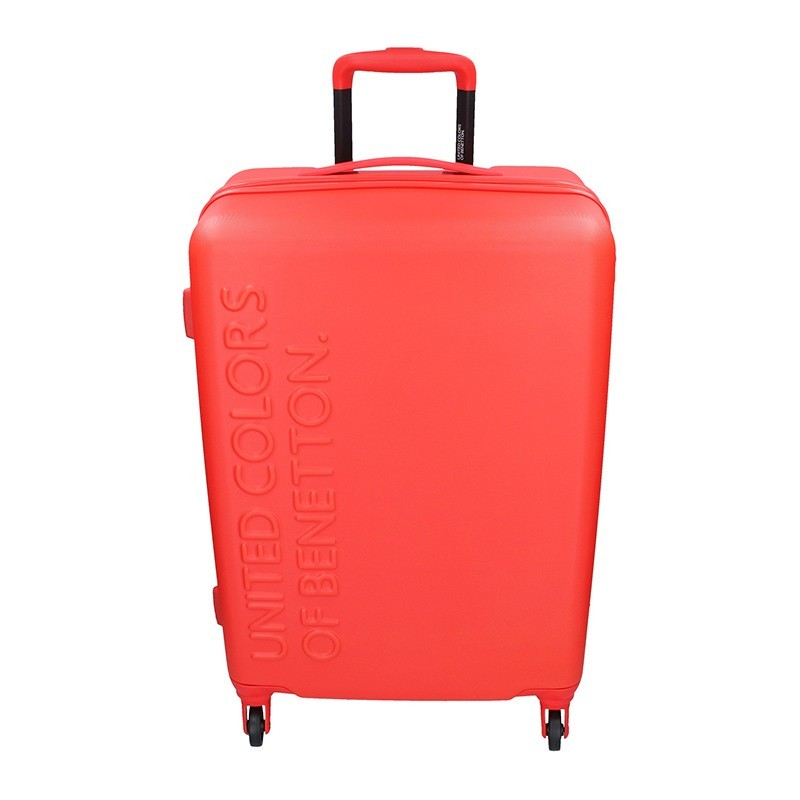 Cestovní kufr United Colors of Benetton Aura M - červená